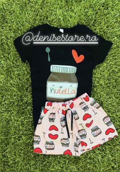 Pijama Nutella Black Short 0