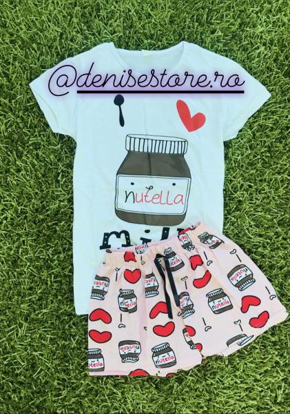Pijama Nutella White Short 0