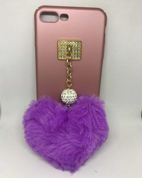 Husa Puf Purple Heart iPhone 7 Plus / iPhone 8 Plus 0