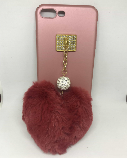 Husa Puf Heart iPhone 7 Plus / iPhone 8 Plus 0