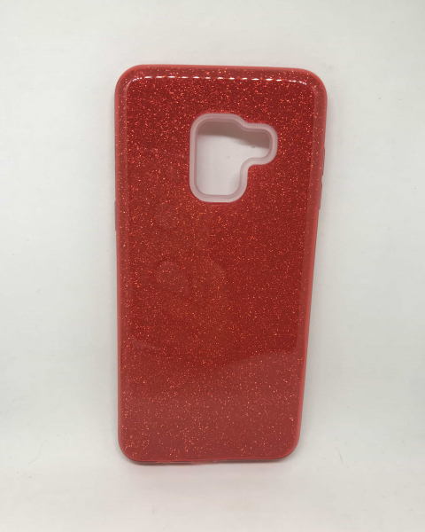 Husa Red Glitter Samsung Galaxy A8 2018 0