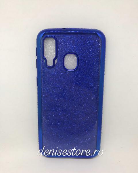 Husa Glitter Rhinestones Blue Samsung Galaxy A40 0