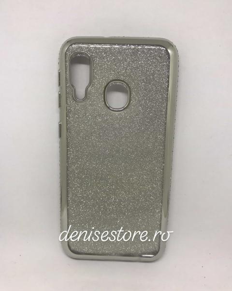 Husa Glitter Rhinestones Silver Samsung Galaxy A20e 0