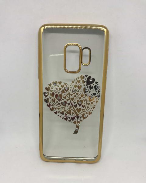 Husa Heart Rhinestones Gold Samsung Galaxy S9 0