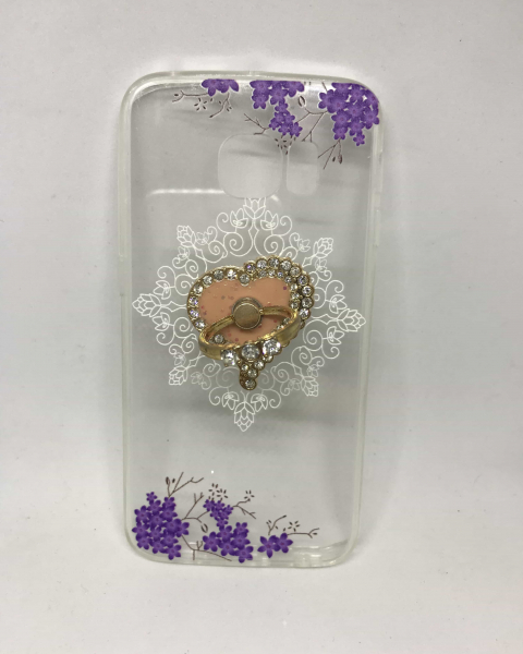 Husa Ring Floral Samsung Galaxy S6 Edge 0