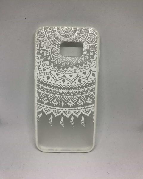 Husa Henna Tribal White Samsung Galaxy S7 Edge 0