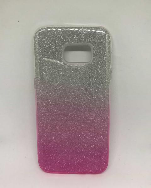 Husa Degrade Glitter Pink Samsung Galaxy S7 Edge 0