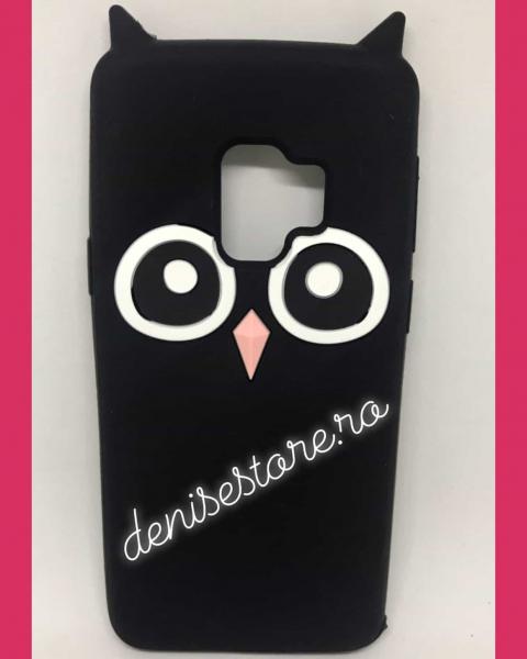 Husa 3D Black Owl Samsung Galaxy S9 0