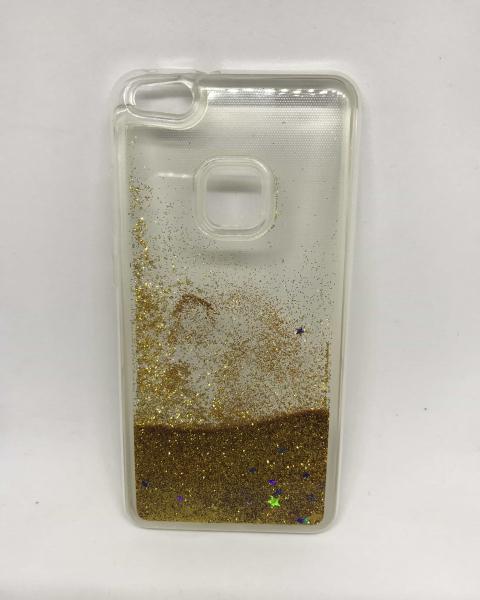 Husa Sclipici Lichid Gold Huawei P10 Lite 0