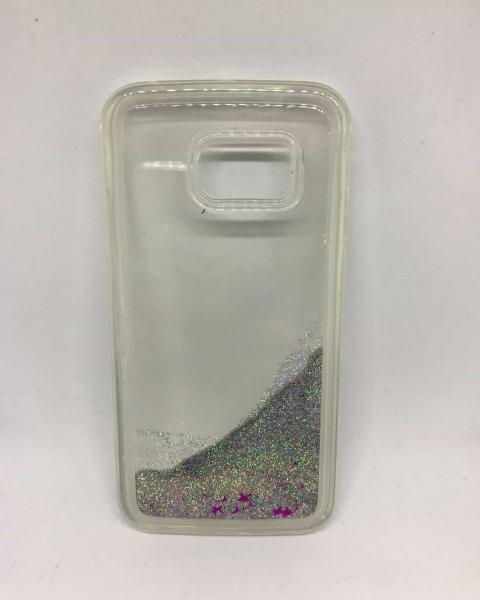 Husa Sclipici Lichid Silver Samsung Galaxy S6 Edge [0]