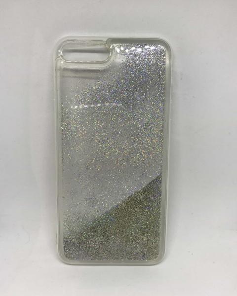 Husa Sclipici Lichid Silver iPhone 7 Plus / iPhone 8 Plus 0