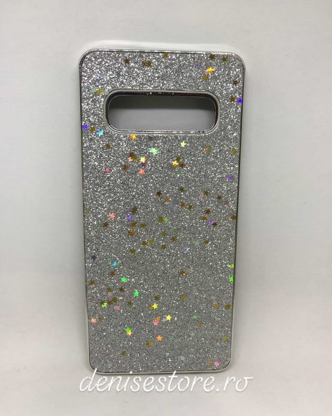 Husa Glitter Silver Stars Samsung Galaxy S10 [0]