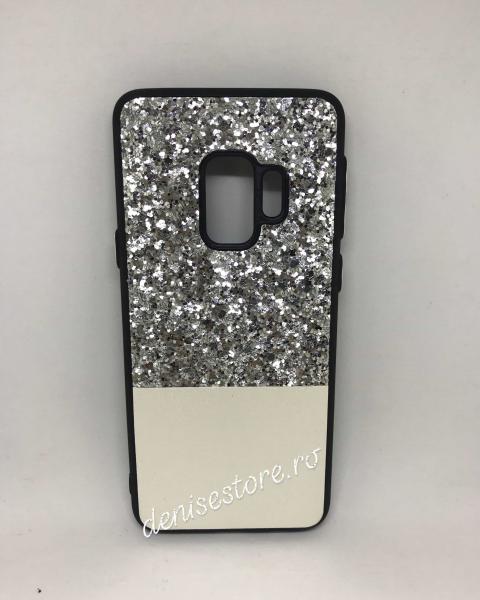 Husa Glitter Silver White Samsung Galaxy S9 0