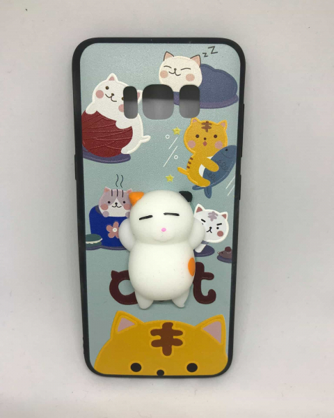 Husa Squishy White Cat Samsung Galaxy S8 0