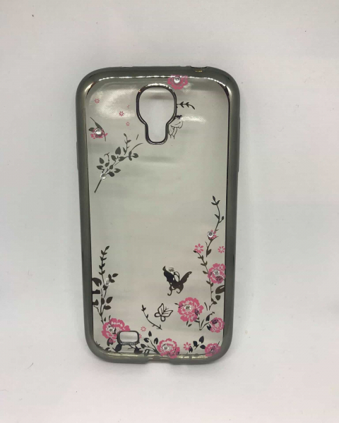Husa Flowers Gray Samsung Galaxy S4 [0]