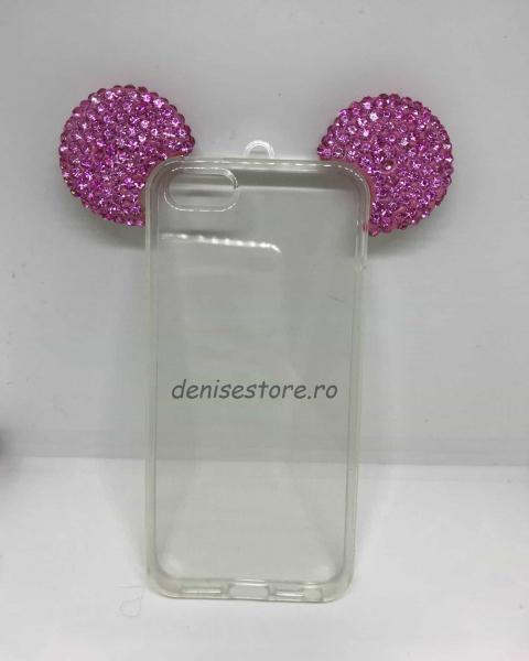 Husa Urechi Rhinestones Pink iPhone 5/5s/SE 0