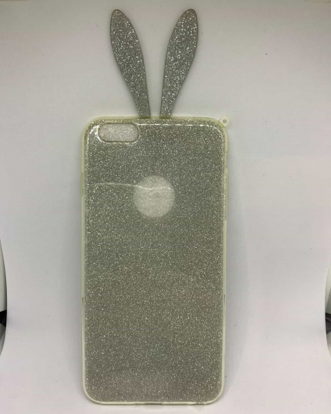 Husa Urechi Iepure Silver iPhone 6 Plus/ 6s Plus 0