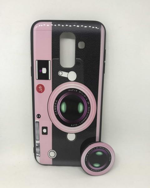Husa + Phone Holder Vintage Camera Samsung Galaxy A6 Plus 2018 0
