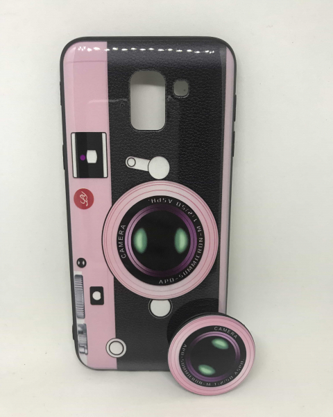 Husa + Phone Holder Vintage Camera Samsung Galaxy J6 2018 [0]