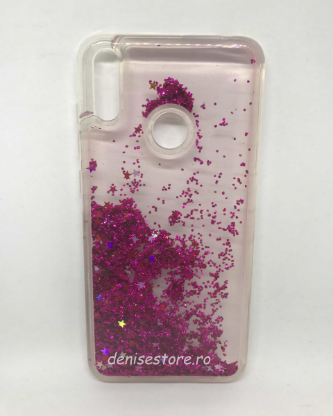 Husa Sclipici Lichid Purple Huawei Y7 2019 [0]