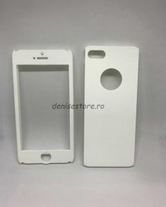 Husa 360 plastic alb iPhone 5/5s/SE0