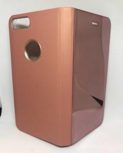 Husa Flip Clear View Mirror Rose iPhone 7 Plus / iPhone 8 Plus0