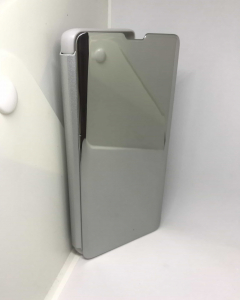 Husa Flip Clear View Mirror Silver Samsung Galaxy S10 Plus0