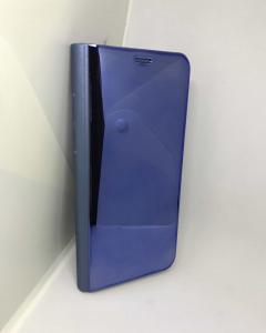 Husa Flip Clear View Mirror Blue Samsung Galaxy S91