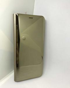 Husa Flip Clear View Mirror Gold Samsung Galaxy S81