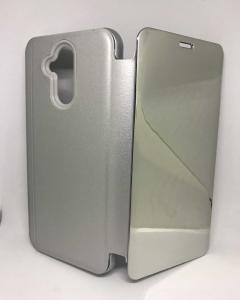 Husa Flip Clear View Mirror Silver Huawei Mate 20 Lite0