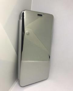 Husa Flip Clear View Mirror Silver Huawei Mate 20 Lite1