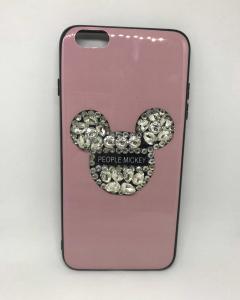 Husa Rhinestones Pink (mic defect) iPhone 6 Plus/ 6s Plus0
