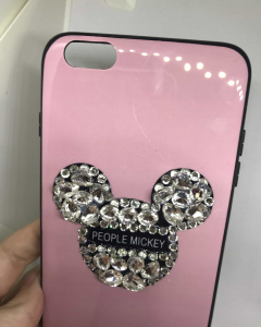 Husa Rhinestones Pink (mic defect) iPhone 6 Plus/ 6s Plus1