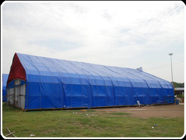 Prelata impermeabila cu inele 90 gr/mp dimensiune 6 x 8 m, albastra 2