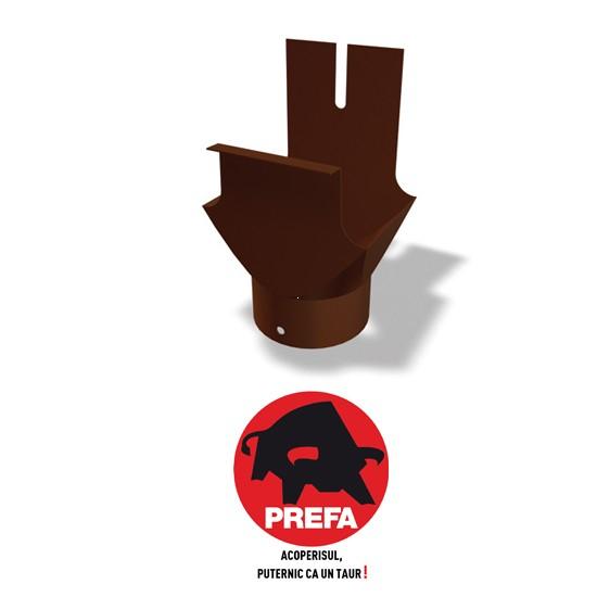 Racord jgheab-burlan rectangular-rotund Prefa 0