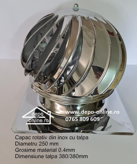 Capac (palarie terminal) rotativ cu talpa din inox [0]