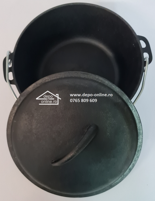 Ceaun din fonta cu capcac [0]
