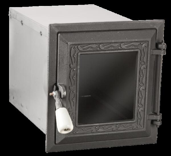 Cuptor cu usa cu geam fonta neagra [0]