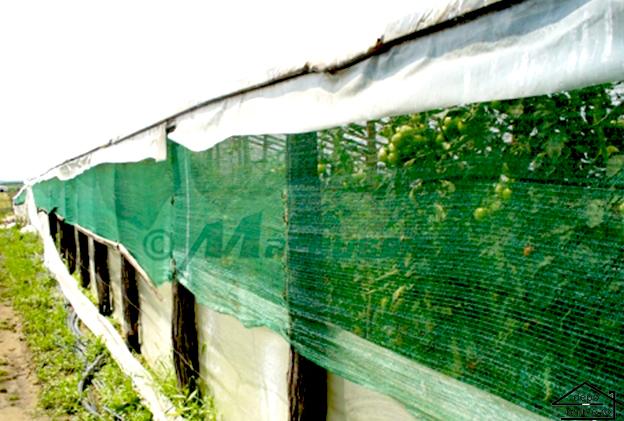 Plasa de umbrire verde 1.7 m grad umbrire 90% 0
