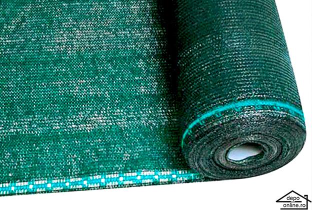 Plasa de umbrire verde 1.7 m grad umbrire 90% 2