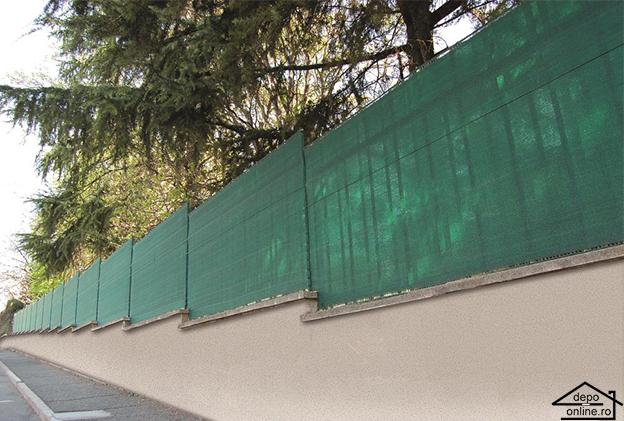 Plasa de umbrire verde 1 m grad umbrire 90% 4