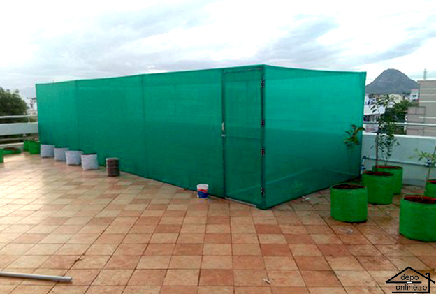 Plasa de umbrire verde 2 m grad umbrire 90% 3
