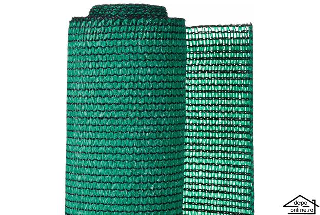 Plasa de umbrire verde 1 m grad umbrire 90% 0