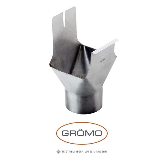 Racord jgheab burlan rectangular-rotund zinc Gromo [0]
