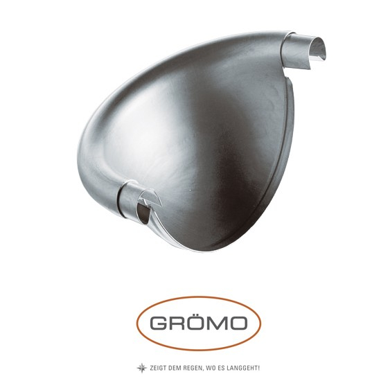 Capac de jgheab semisferic zinc Gromo [0]