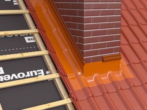 Profil etansare perete/cos de fum aluminiu - 80mm x 2 m [1]