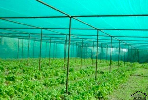 Plasa de umbrire verde 1.7 m grad umbrire 80% 0