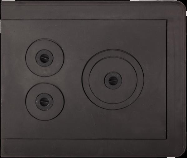 Plita din fonta cu rama si trei ochiuri 720 mm x 640 mm [0]
