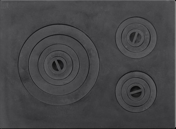 Plita soba din fonta cu trei ochiuri 645 mm x 470 mm 0