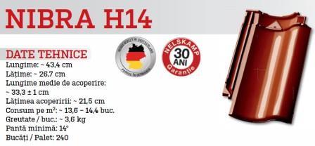 Tigla ceramica NIBRA H14 8